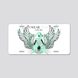 I Wear Teal for my Aunt Aluminum License Plate