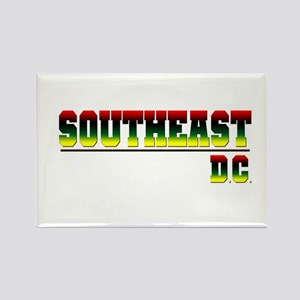 South East (red, blk, gry & y Rectangle Magnet