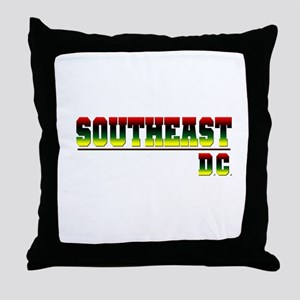 South East (red, blk, gry & y Throw Pillow