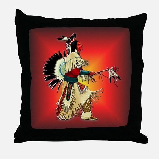 Native American Warrior #6 Throw Pillow