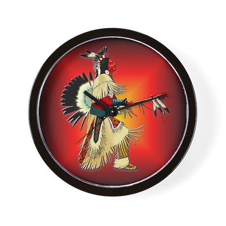 Native American Warrior #6 Wall Clock