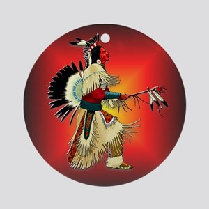 Native American Warrior #6 Ornament (Round)