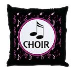 Choir Musical Notes Throw Pillow