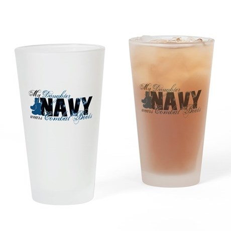 Daughter Combat Boots - NAVY Drinking Glass