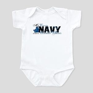 Cousin Combat Boots - NAVY Infant Bodysuit