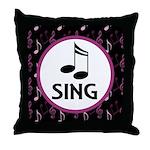 Sing Choir Music Throw Pillow