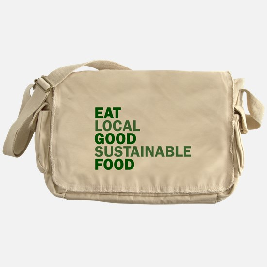 Eat Good Food Messenger Bag
