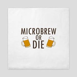 'Microbrew or Die' Queen Duvet