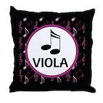 Viola Music Notes Throw Pillow