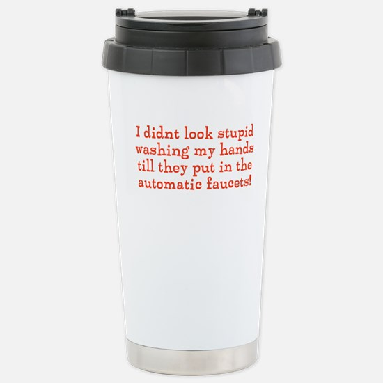 Hand Washing Humor Stainless Steel Travel Mug