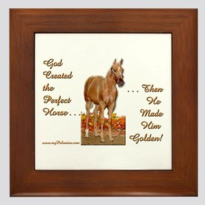 Golden Palomino Framed Tile