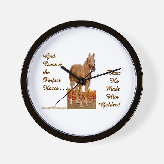 Golden Palomino Wall Clock