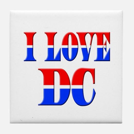 I Love DC Tile Coaster