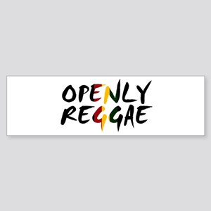 'Openly Reggae' Sticker (Bumper)