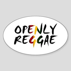'Openly Reggae' Sticker (Oval)