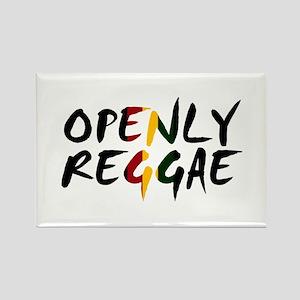 'Openly Reggae' Rectangle Magnet