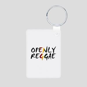 'Openly Reggae' Aluminum Photo Keychain