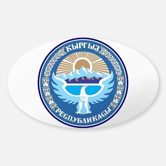 Kyrgystan Emblem Sticker (Oval)
