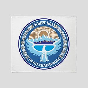 Kyrgystan Emblem Throw Blanket