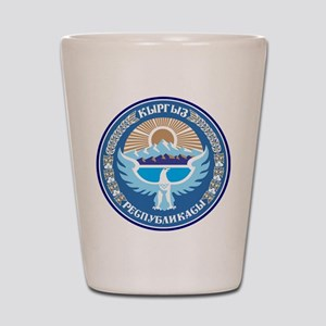 Kyrgystan Emblem Shot Glass
