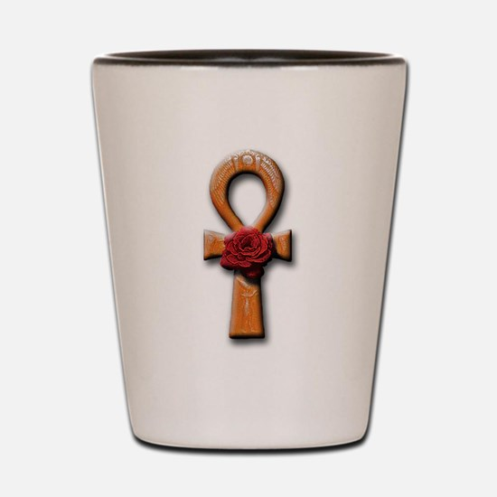 Ra Rose Ankh Shot Glass