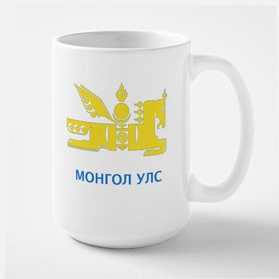 Mongolia emblem Large Mug
