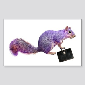 Purple Squirrel Sticker (Rectangle)
