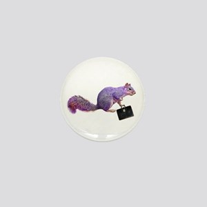 Purple Squirrel Mini Button