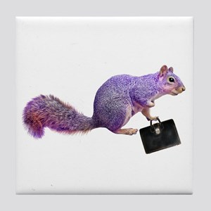 Purple Squirrel Tile Coaster