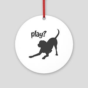 play? Labrador Ornament (Round)