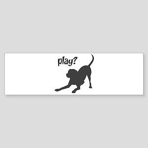 play? Labrador Sticker (Bumper)