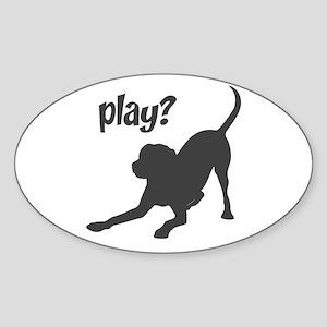 play? Labrador Sticker (Oval)
