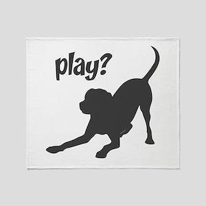 play? Labrador Throw Blanket