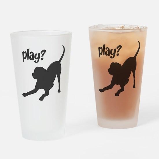 play? Labrador Drinking Glass