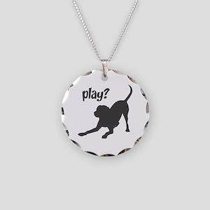 play? Labrador Necklace Circle Charm