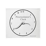 Procrastinator's Clock Throw Blanket