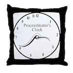 Procrastinator's Clock Throw Pillow