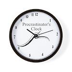 Procrastinator's Clock Wall Clock
