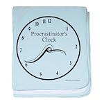 Procrastinator's Clock baby blanket