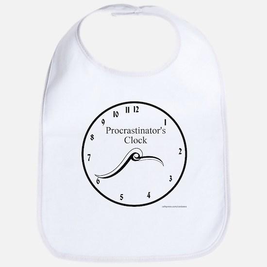 Procrastinator's Clock Bib