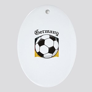 German Soccer / Germany Soccer Oval Ornament
