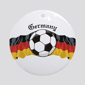 German Soccer / Germany Soccer Ornament (Round)