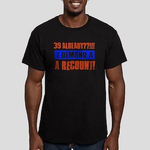39th birthday design Men's Fitted T-Shirt (dark)