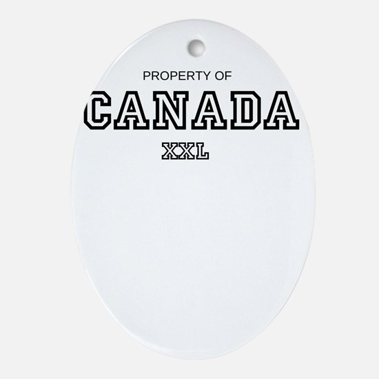 property of canada Ornament (Oval)