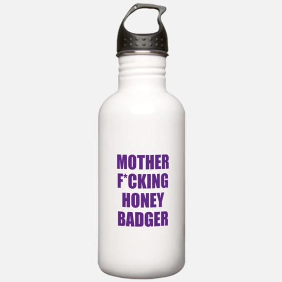 mother f***ing honey badger Water Bottle