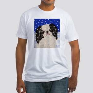 Snowflakes japanese chin Fitted T-Shirt