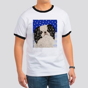 Snowflakes japanese chin Ringer T