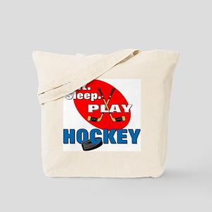 Eat Sleep Play Hockey Tote Bag