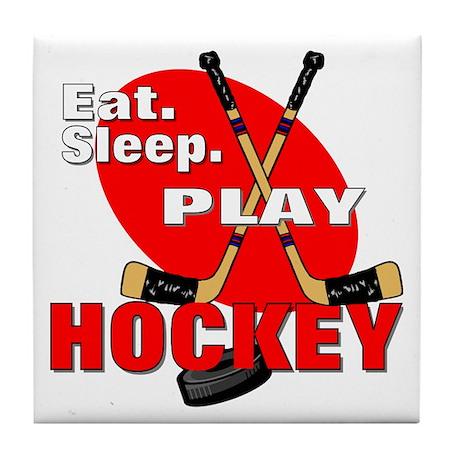 Eat Sleep Play Hockey Tile Coaster