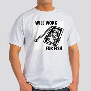 Will Work For Sushi Light T-Shirt